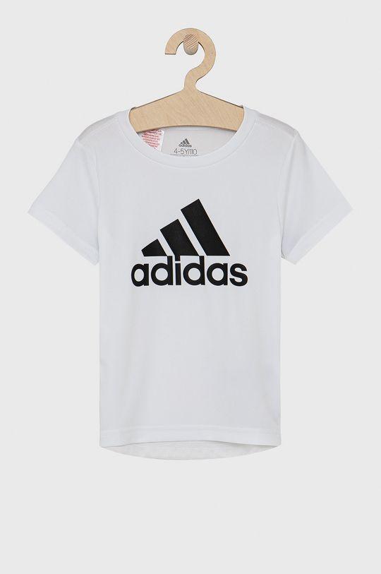 biały adidas - T-shirt dziecięcy Chłopięcy
