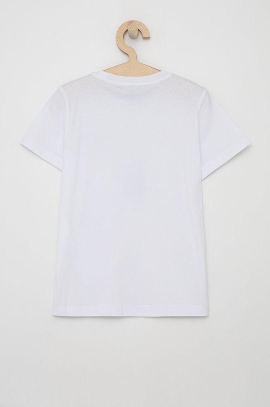 EA7 Emporio Armani - T-shirt bawełniany dziecięcy biały