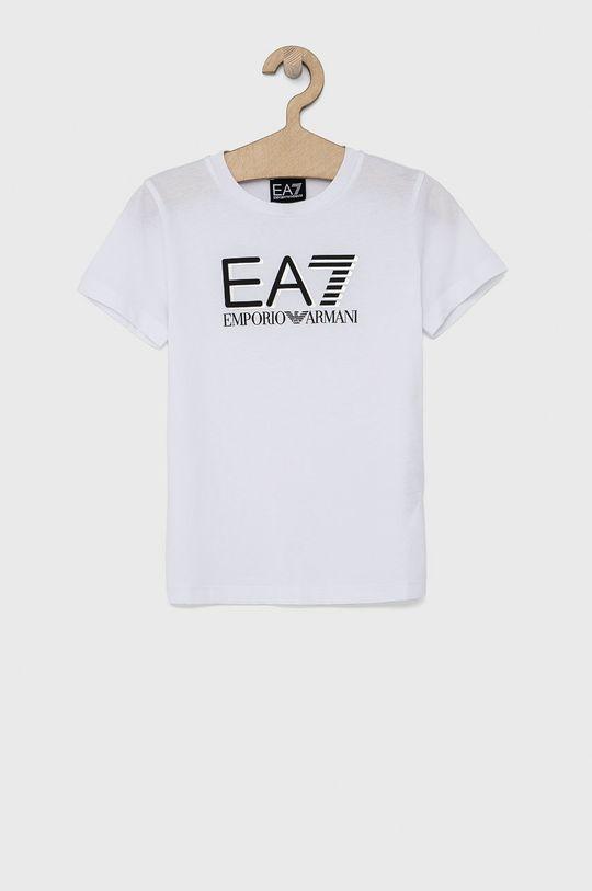 bílá EA7 Emporio Armani - Dětské tričko 104-164 cm Chlapecký