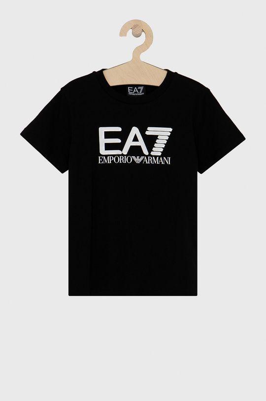 černá EA7 Emporio Armani - Dětské tričko 104-164 cm Chlapecký