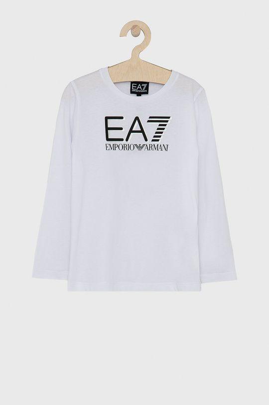 biały EA7 Emporio Armani - Longsleeve dziecięcy Chłopięcy