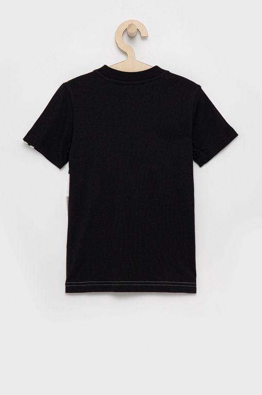 adidas - T-shirt bawełniany dziecięcy czarny