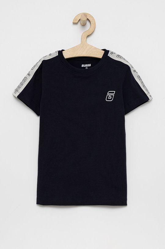 granatowy Guess - T-shirt dziecięcy Chłopięcy