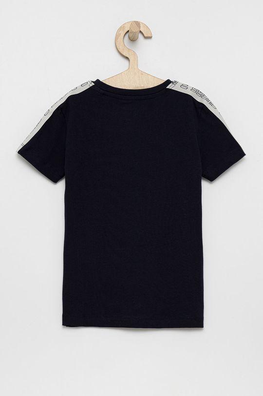 Guess - T-shirt dziecięcy granatowy