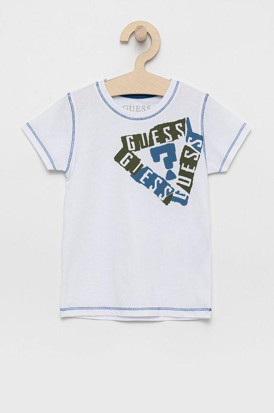 biela Guess - Detské bavlnené tričko Chlapčenský