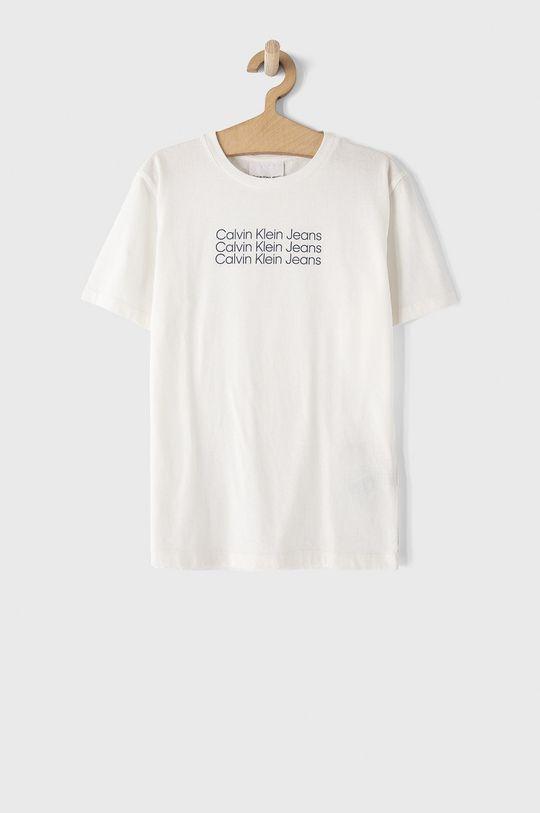 biały Calvin Klein Jeans - T-shirt dziecięcy Chłopięcy