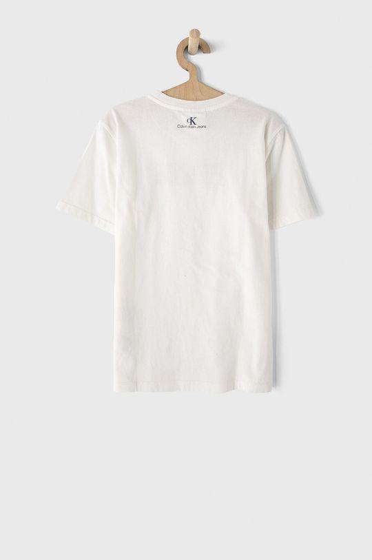 Calvin Klein Jeans - T-shirt dziecięcy biały