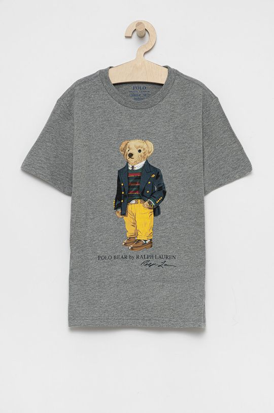 gri Polo Ralph Lauren - Tricou de bumbac pentru copii De băieți