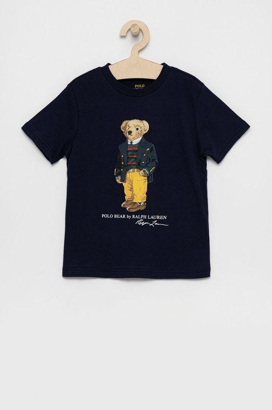 tmavomodrá Polo Ralph Lauren - Detské bavlnené tričko Chlapčenský