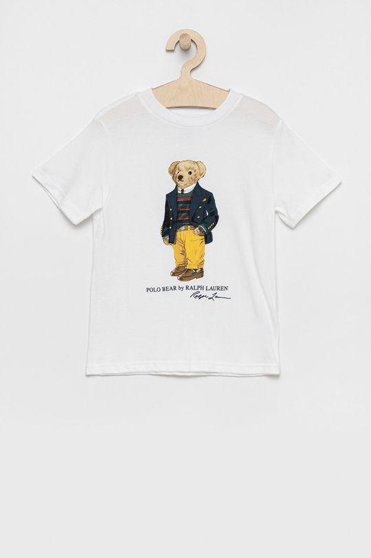 biały Polo Ralph Lauren - T-shirt bawełniany dziecięcy Chłopięcy
