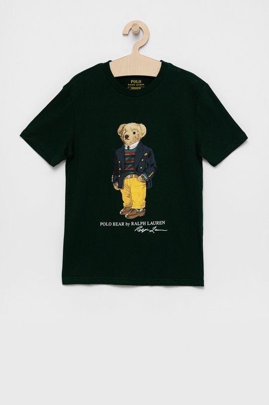 tmavozelená Polo Ralph Lauren - Detské bavlnené tričko Chlapčenský
