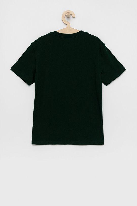 Polo Ralph Lauren - Detské bavlnené tričko tmavozelená