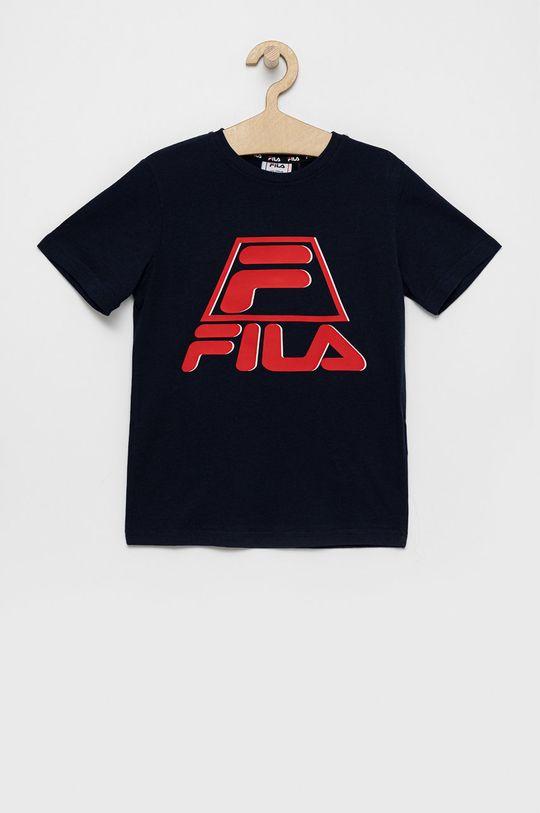 bleumarin Fila - Tricou de bumbac pentru copii De băieți