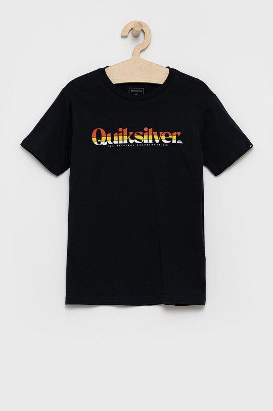 czarny Quiksilver - T-shirt bawełniany dziecięcy Chłopięcy