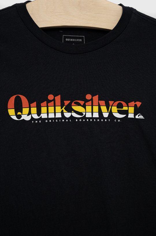 Quiksilver - T-shirt bawełniany dziecięcy 100 % Bawełna