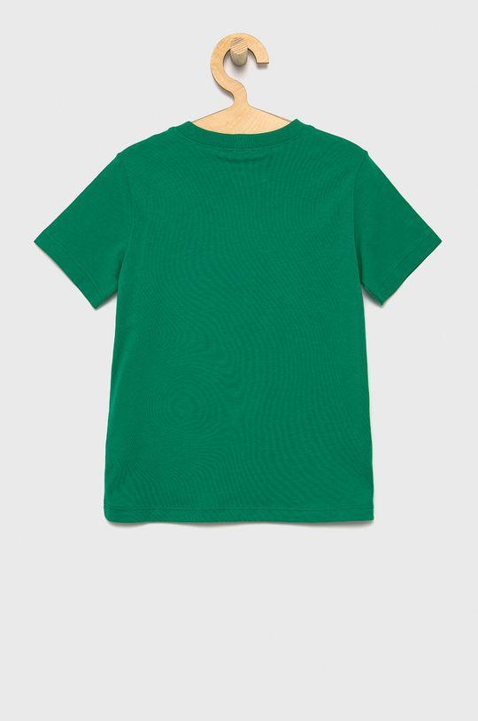 United Colors of Benetton - T-shirt bawełniany dziecięcy zielony