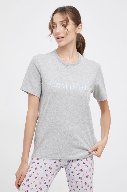 szary Calvin Klein Underwear - T-shirt piżamowy Damski