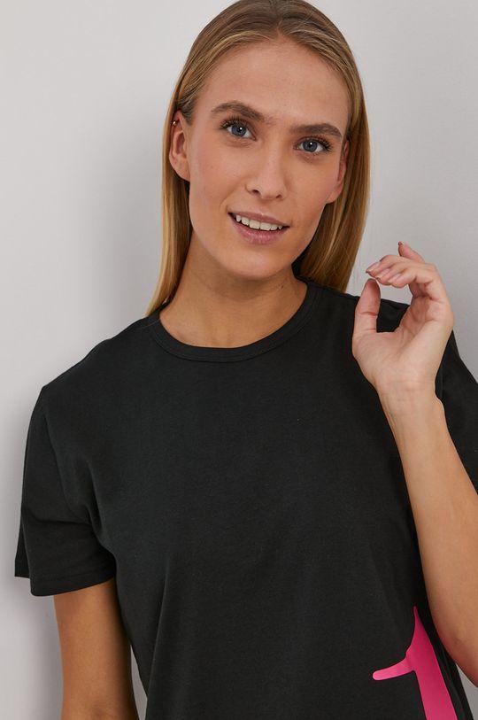 Calvin Klein Underwear - T-shirt piżamowy CK One czarny