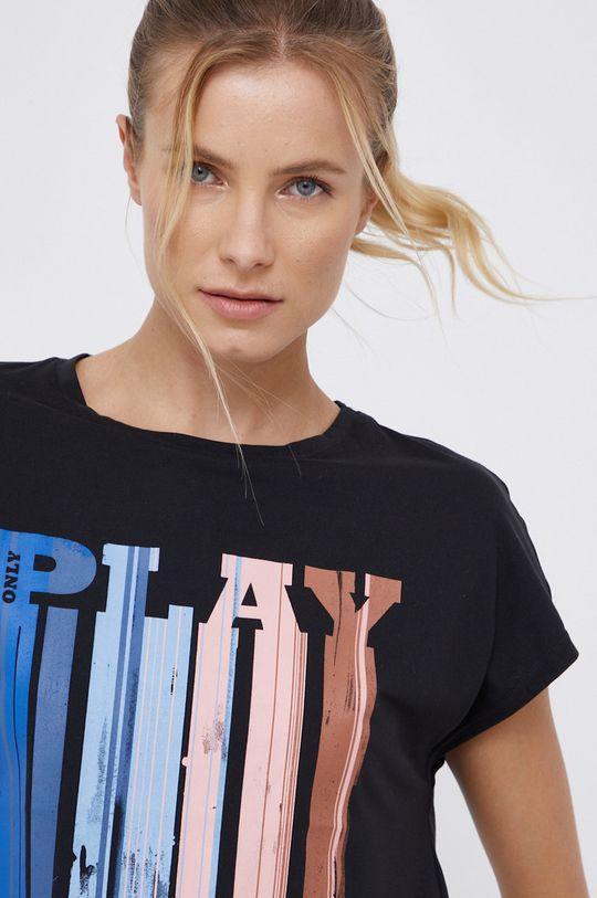 czarny Only Play - T-shirt Damski