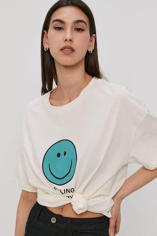 piaskowy Noisy May - T-shirt
