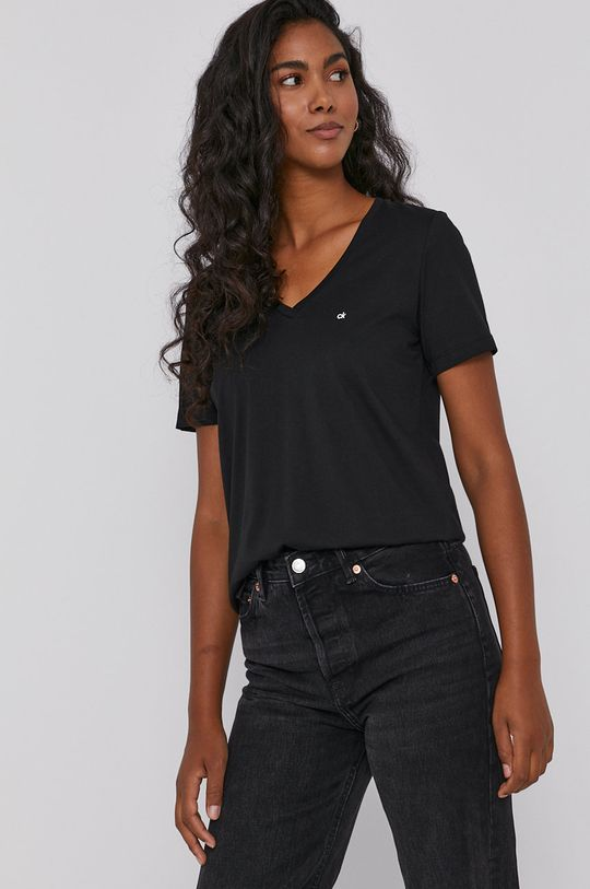 czarny Calvin Klein - T-shirt bawełniany Damski