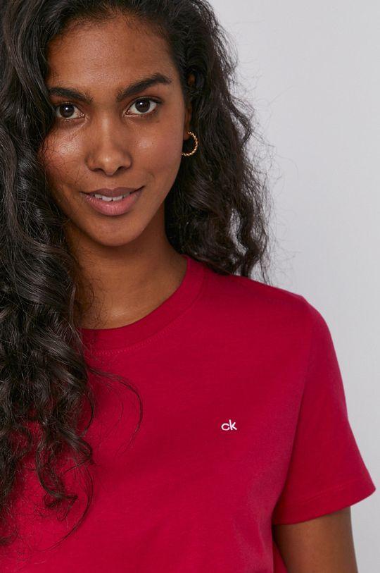 różowy Calvin Klein - T-shirt bawełniany