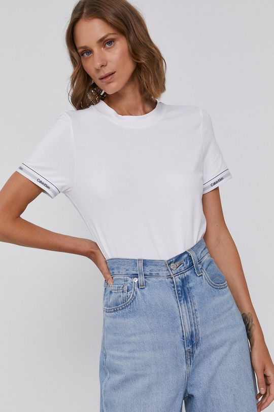 bílá Calvin Klein - Bavlněné tričko Dámský