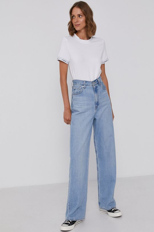 Calvin Klein - Bavlněné tričko bílá