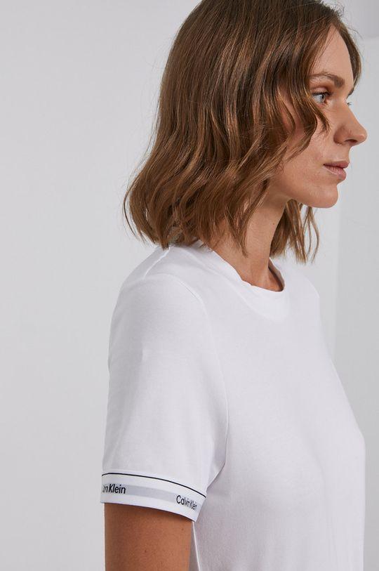 bílá Calvin Klein - Bavlněné tričko