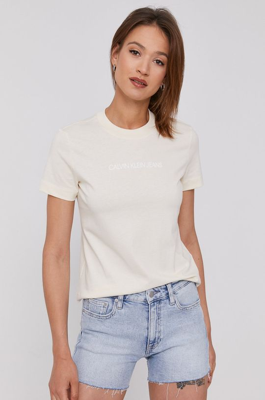 krém Calvin Klein Jeans - T-shirt Női