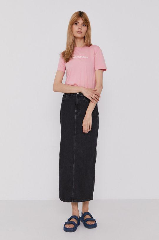 Calvin Klein Jeans - T-shirt różowy