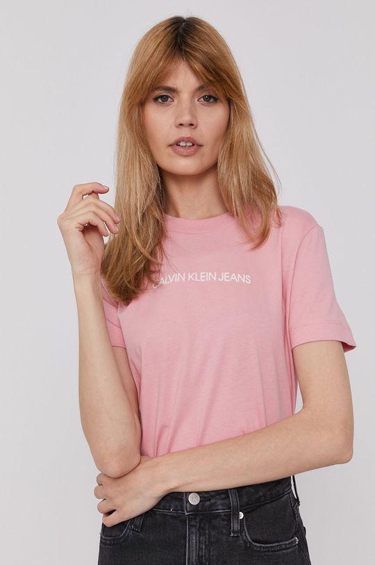 różowy Calvin Klein Jeans - T-shirt