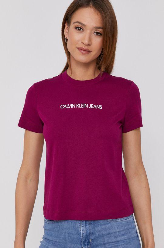 fialová Calvin Klein Jeans - Tričko Dámský