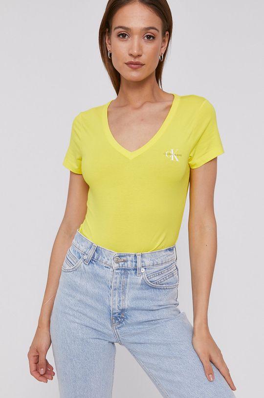 žltá Calvin Klein Jeans - Tričko Dámsky