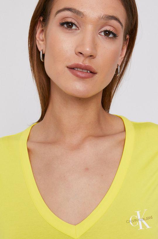 žltá Calvin Klein Jeans - Tričko