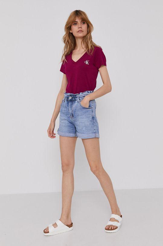 Calvin Klein Jeans - Tričko fialová