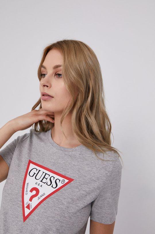 jasny szary Guess - T-shirt