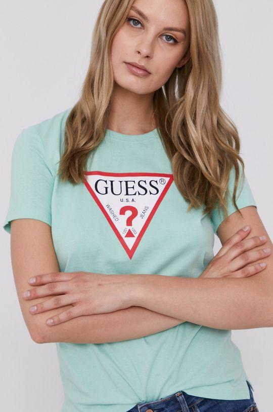 turkusowy Guess - T-shirt Damski