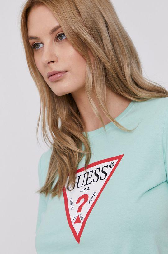 turkusowy Guess - T-shirt