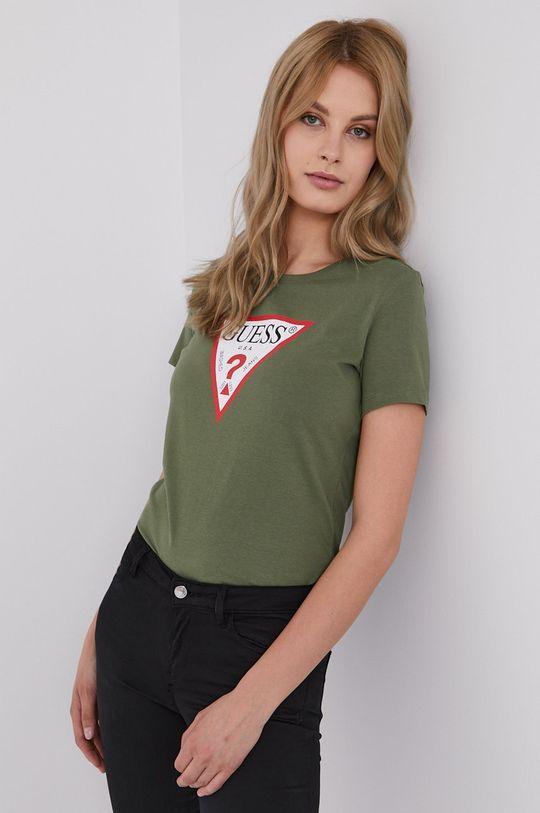 ciemny zielony Guess - T-shirt