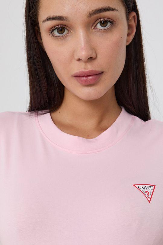 różowy Guess - T-shirt