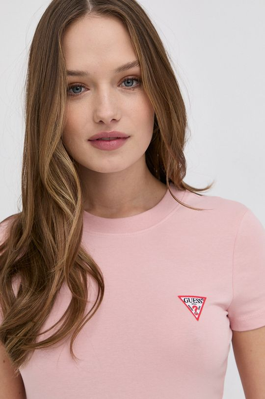 ostry różowy Guess - T-shirt