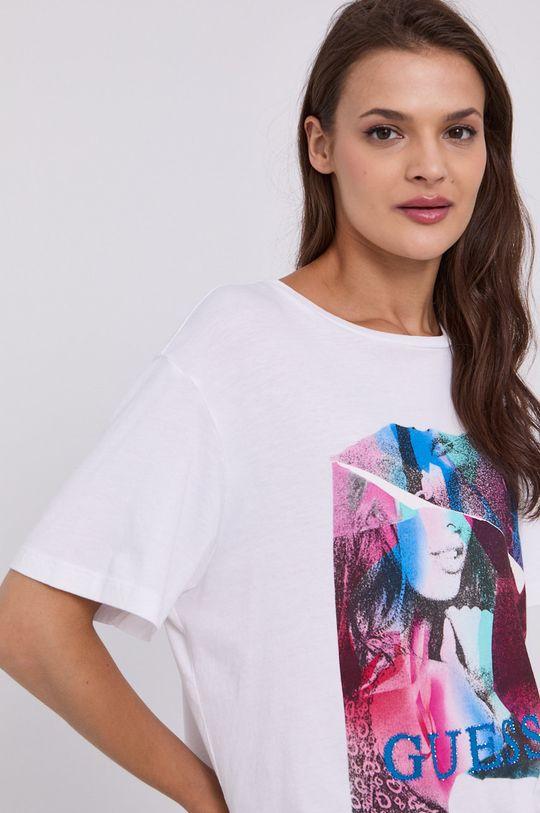 biały Guess - T-shirt