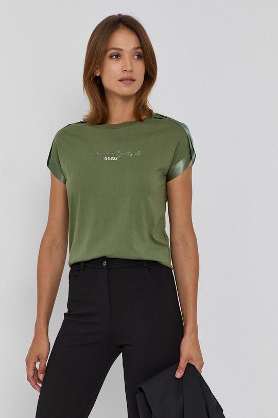 tmavě zelená Guess - Tričko Dámský