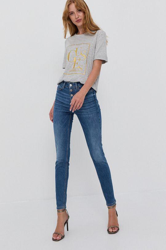 Guess - Bavlnené tričko svetlosivá