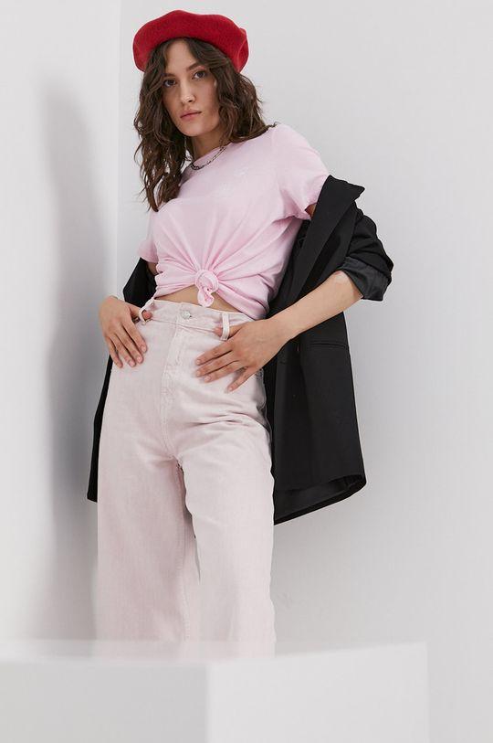 roz Vero Moda - Tricou din bumbac De femei