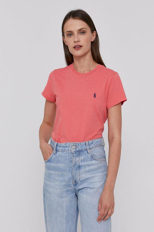 ružová Polo Ralph Lauren - Bavlnené tričko Dámsky