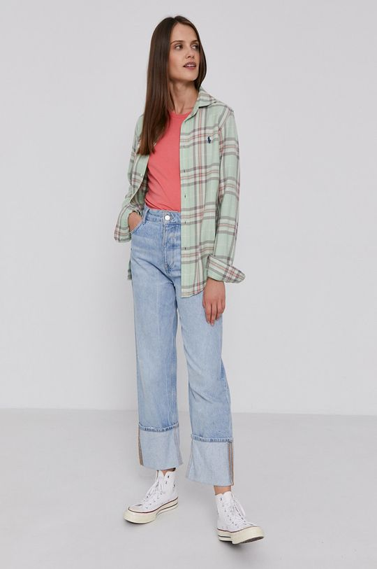 Polo Ralph Lauren - Bavlnené tričko ružová