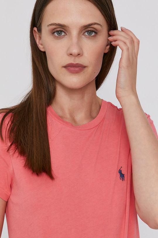 ružová Polo Ralph Lauren - Bavlnené tričko