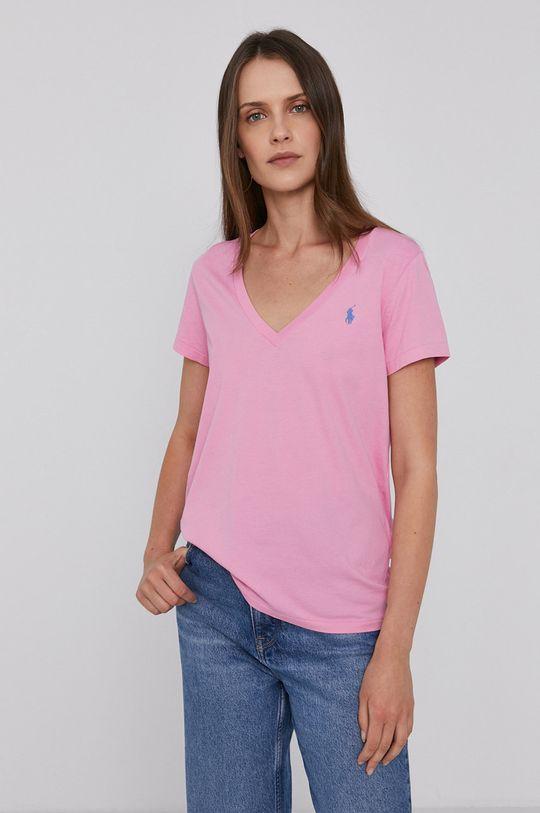 różowy Polo Ralph Lauren - T-shirt bawełniany Damski